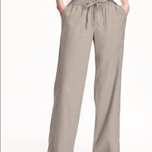 💐3/$50 Old Navy Linen Blend Wide Leg Pants BWNT